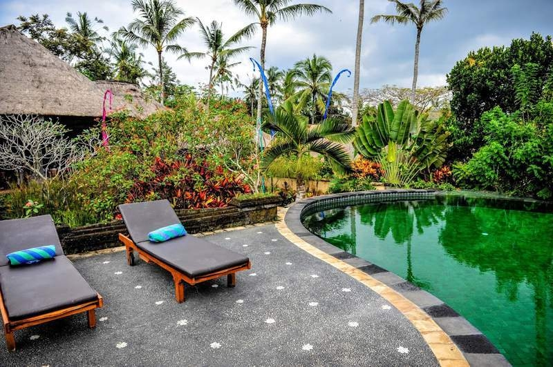 Balinese villa with meditation area. Amazing holiday accommodation Asia